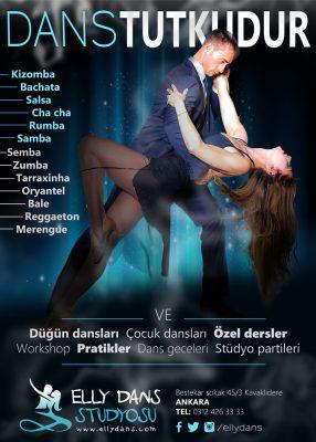 Dans okulu afişi