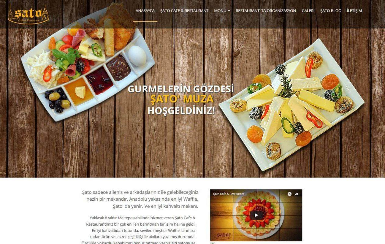 Cafe ve Restaurant Web Sitesi