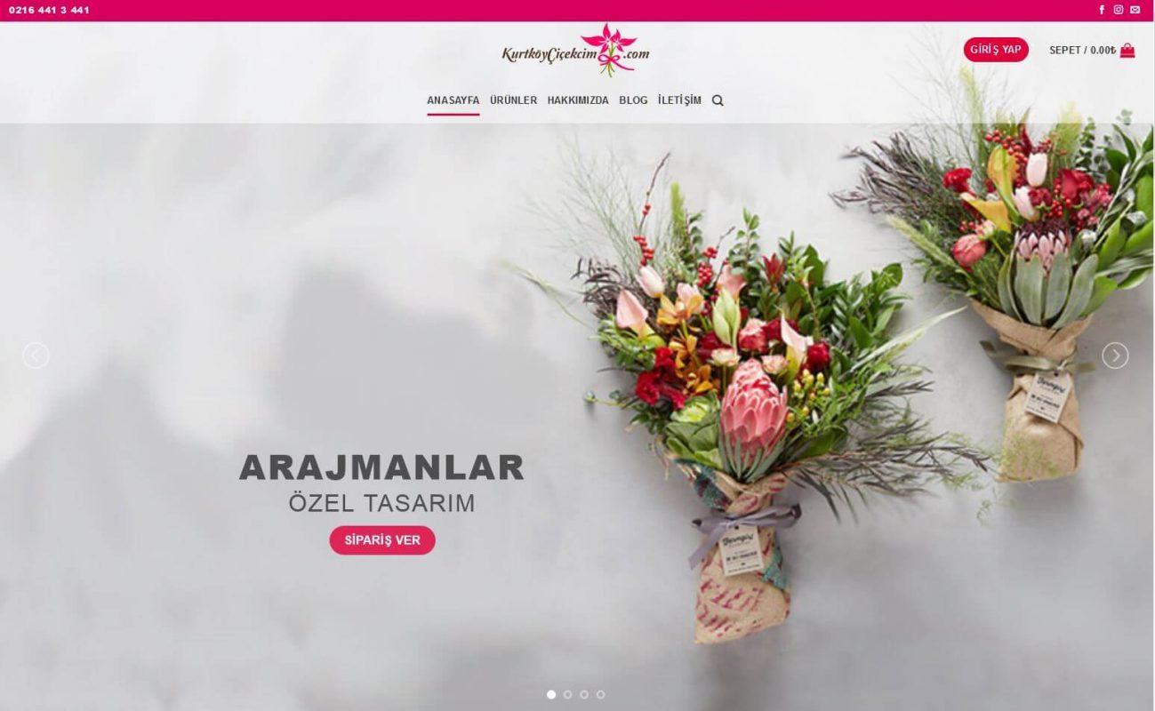 Kurtköy Çiçekçi Web Sitesi